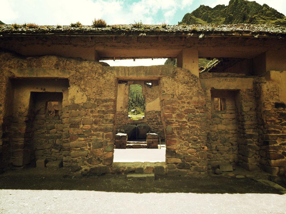 Ollantaytambo, entrée du site
