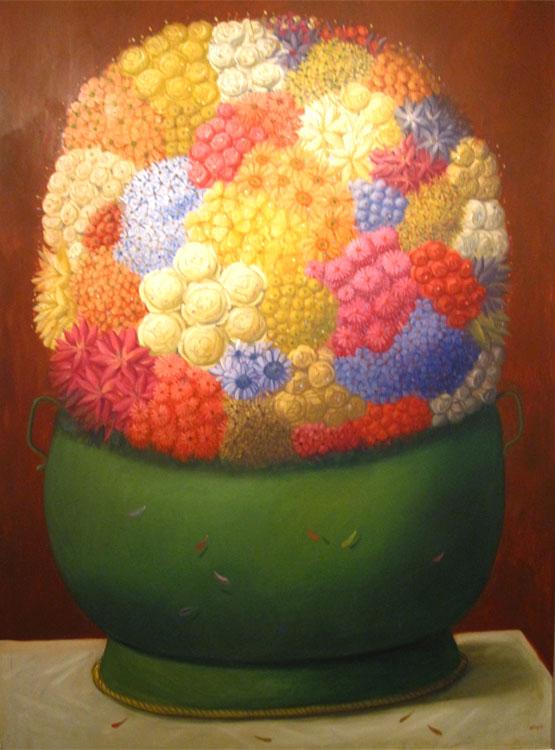 Fleurs, 1998 - Huile sur toile
