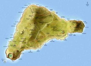 Carte de l'île de Paques