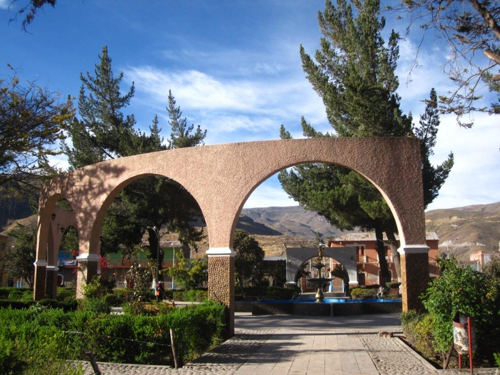 Chivay, Plaza de armas