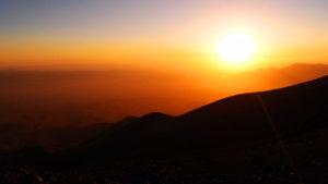 Coucher de soleil à plus de 4600m