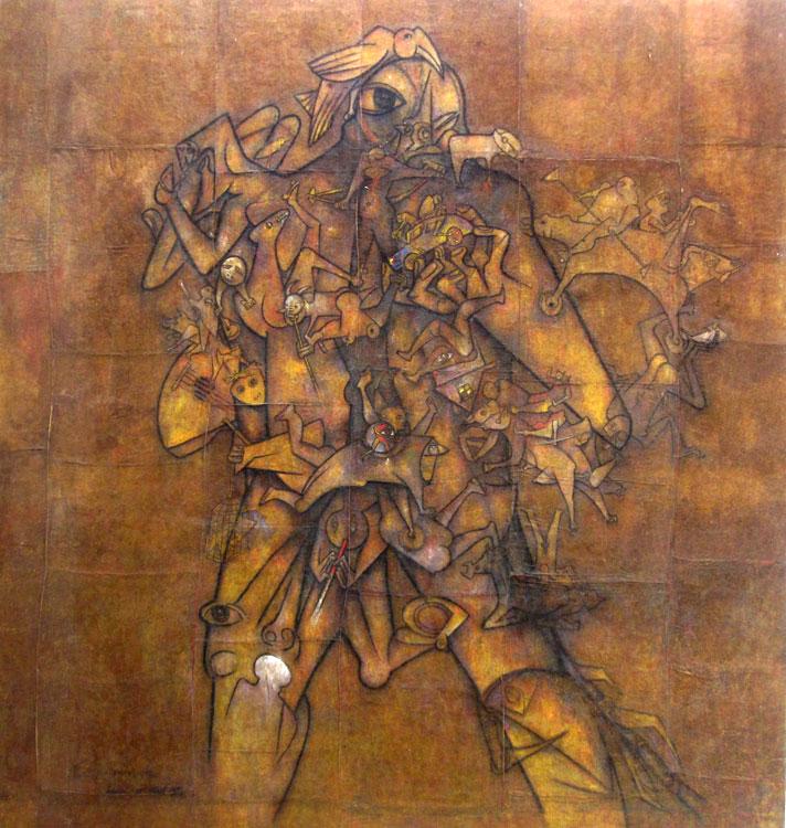 """MAM Trujillo : """"El otro Ekeko"""" (Gerardo Chavez) 4m46 x 4m46"""