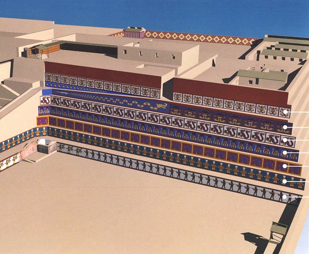 Vue de la place cérémonielle - Huaca de la Luna