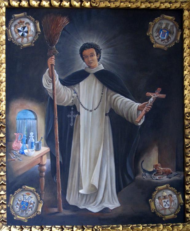 Saint péruvien dont le nom nous a échappé, imitation de l'Ecole de Cuzco (oeuvre récente) - San Lorenzo